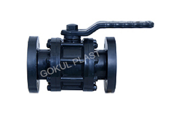 PP Three Piece Flange End Ball Valve