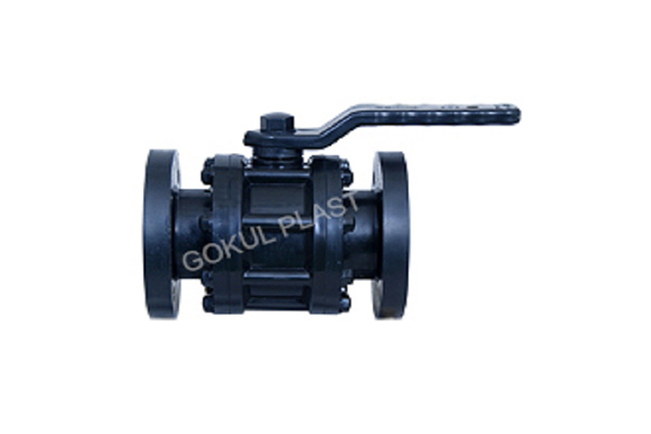 PP THREE PIECE SCREWED END BALL VALVE